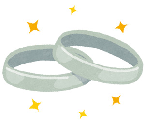 結婚指輪 イラスト